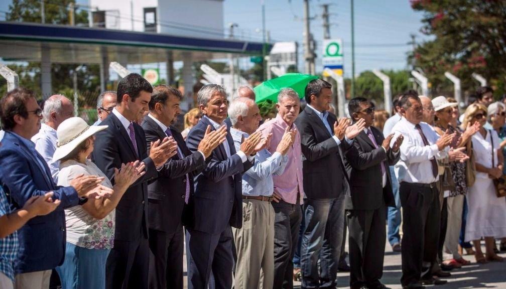 Marcelo y Silvia Romero, el gobernador Urtubey, el vicegobernador Isa, Norberto Freyre, López Arias, Wayar y el ministro Rodríguez, entre los presentes. Javier Corbalán