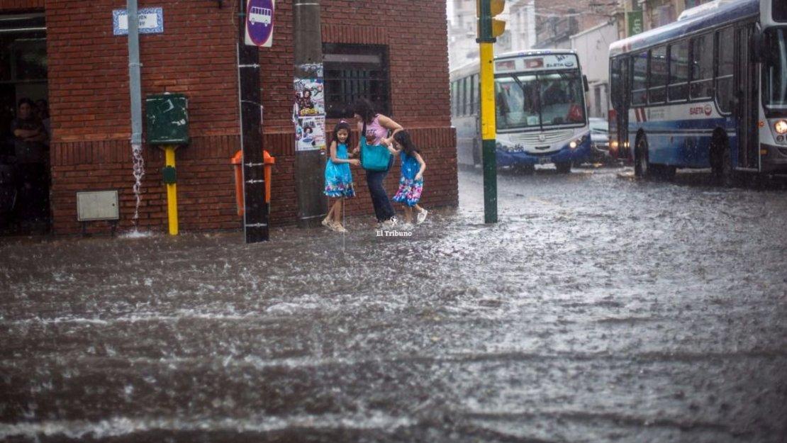 El centro de la ciudad, otra vez inundado. Javier Corbalán