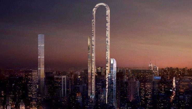 Proyectan construir rascacielos en forma de U invertida
