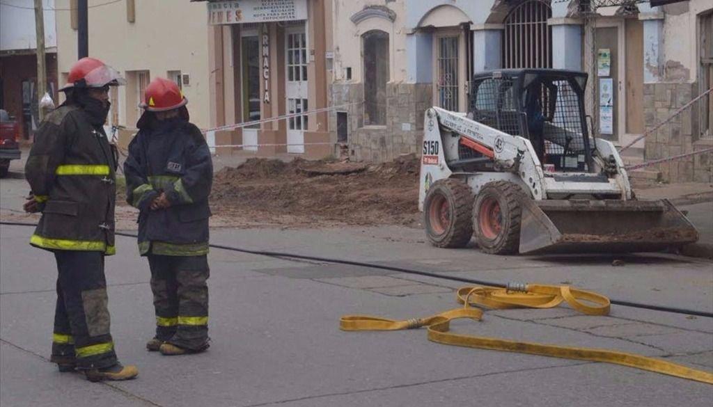Susto por un escape de gas en la calle Güemes