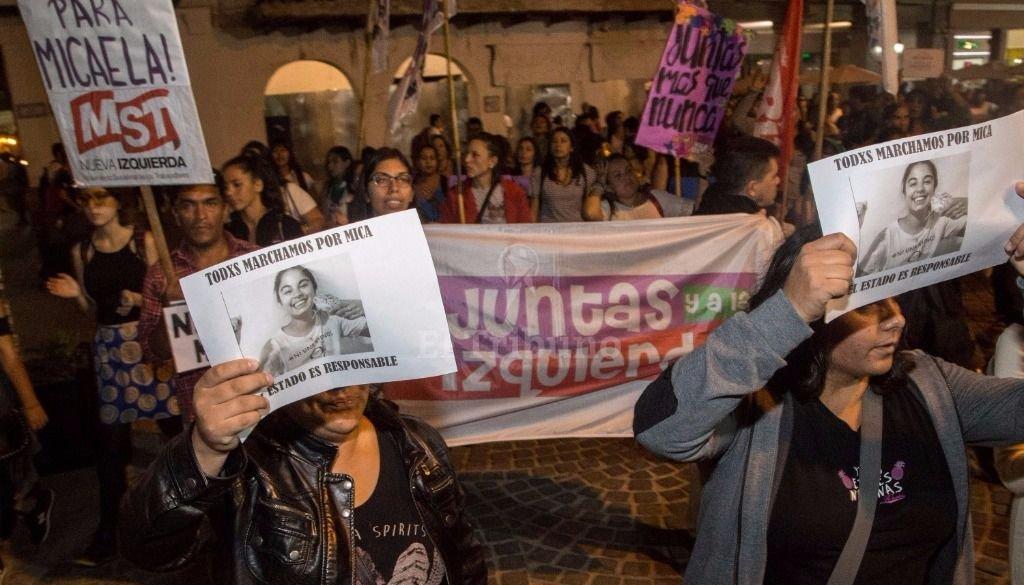 Marcha pidiendo justicia por Micaela. Fotos Andrés Mansilla