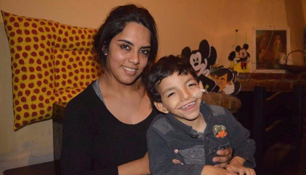 Francisco, uno de  los tres niños que  padecen cri du chat