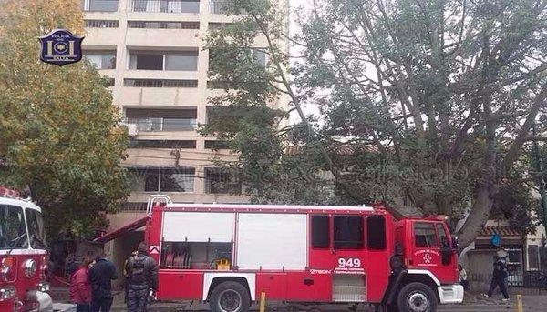 Incendio en un edificio ubicado en avenida Belgrano