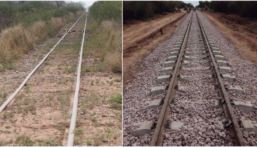 Se completó la renovación de los primeros 100 km de vías del Belgrano Cargas