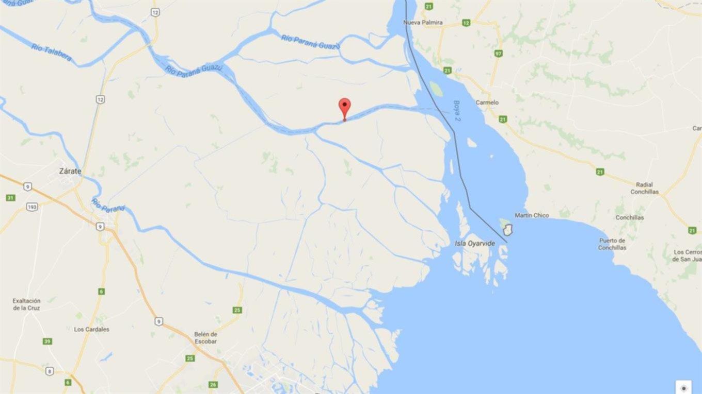 Comienza el operativo para desenterrar el avión encontrado — Delta del Paraná