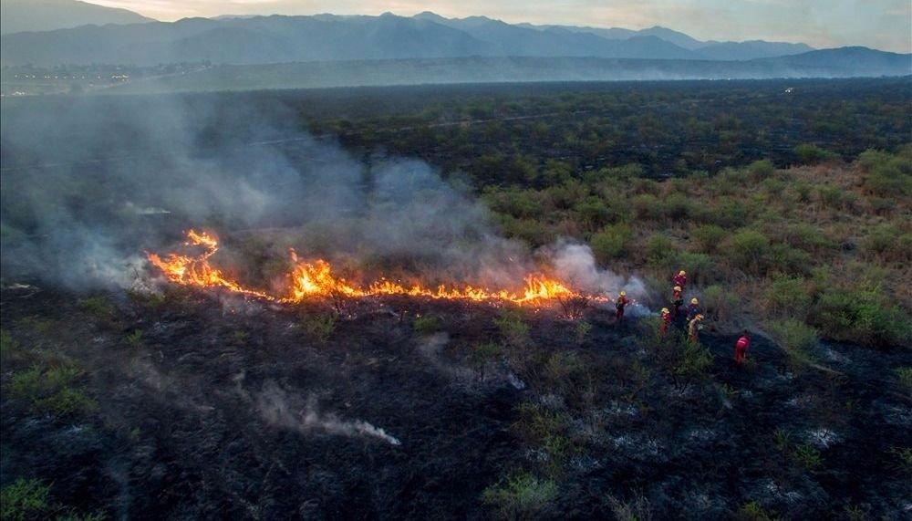El incendio del campo del Ejército, el más voraz del año