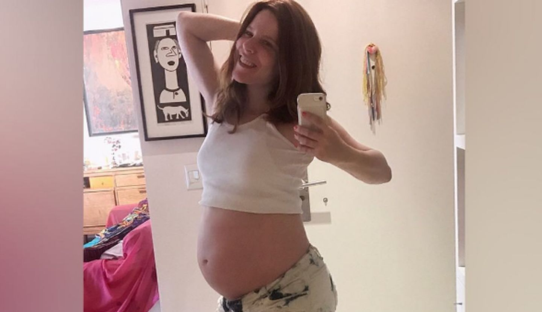 Agustina Kämpfer mostró la primera foto de su hijo